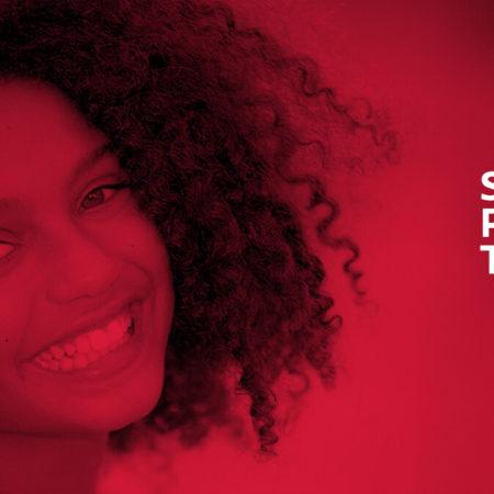 Banner vermelho do Sorriso Para Todos